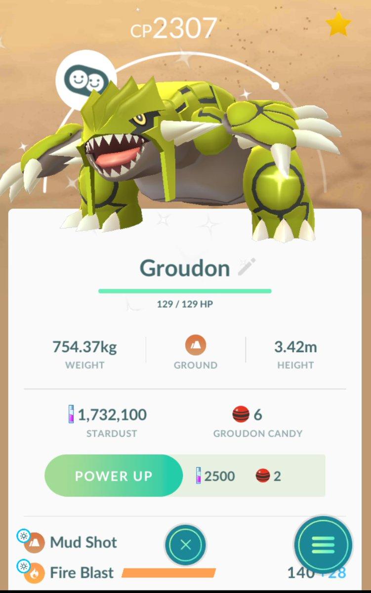 Shiny Groudon  on my first raid today  #ShinyGroudon #PokemonGo <br>http://pic.twitter.com/GZU6xBTp9u