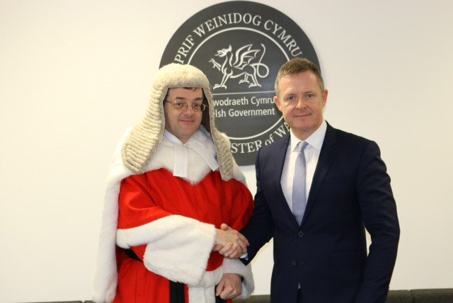 Delighted to have been officially sworn in as Counsel General earlier this week. Proud to continue my work as chief legal adviser to @WelshGovernment, as well as my responsibilities coordinating our response to #Brexit