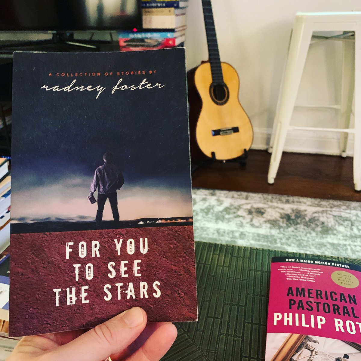 "I loved @RadneyFoster 's collection of short stories - ""For You To See The Stars"" so much. It was engaging, deep, funny,  and moving. All the things good writing should be. Y'all check it out. Next up in my 2019 book challenge is ""American Pastoral"" by Phillip Roth."