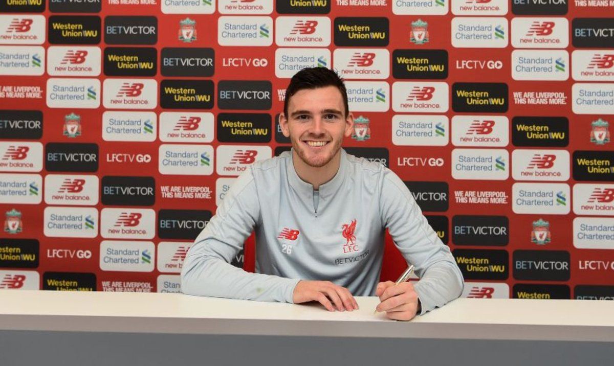 OFFICIAL: Andy Robertson has signed a new 'long-term' contract with Liverpool reportedly keeping him at the club until 2024.