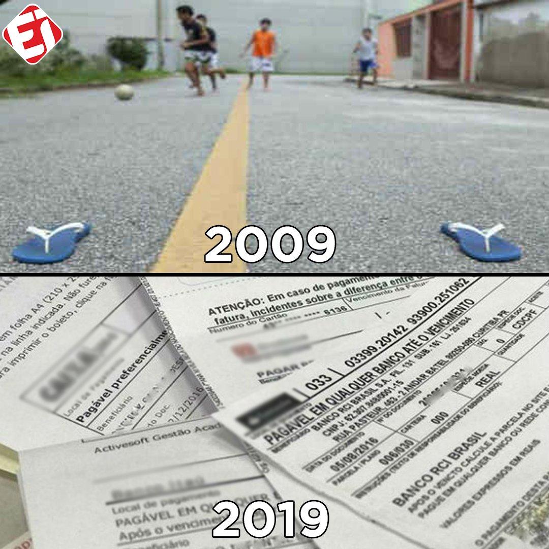 Aquele 'Desafio dos 10 anos' triste...