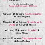 Image for the Tweet beginning: Vuelve #Cienciaficcionados , la cita