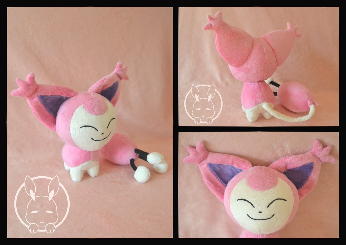 PLUSH MADE IN 2017 This #Skitty #plush was a clear example that sometimes the most simple designs and with most generic shapes can be a complete nightmare. It was really hard to get all those shapes and proportions right! It is about 20cm tall and made of minky with hand painted. <br>http://pic.twitter.com/3CcBD9Ig2V