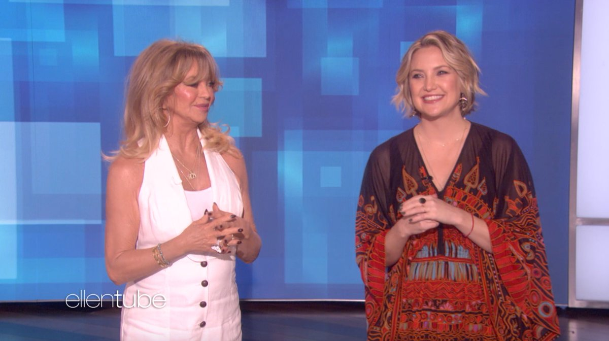 Today my incredible guest hosts are Kate Hudson and @GoldieHawn!