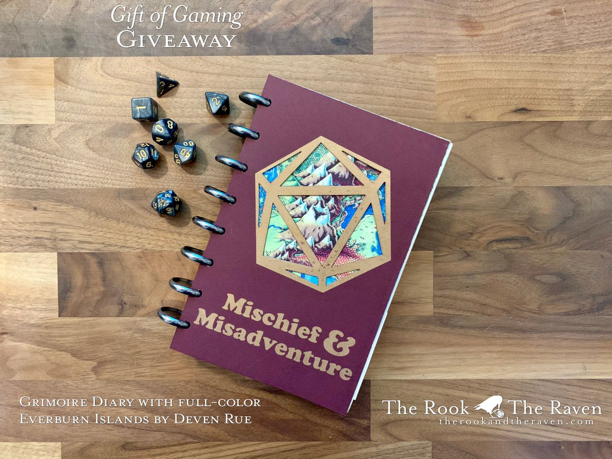 Want a special &quot;Giveaway&quot; Edition Campaign Diary? The only way to get one is to win one!  Follow and Retweet to enter our drawing, and we&#39;ll choose the winner Jan 24th at 9:00pm CST!  See our entire lineup of D&amp;D Player Diaries and DM Planners at  https:// therookandtheraven.com/shop  &nbsp;    #MMCD<br>http://pic.twitter.com/kIYAaP0FsR
