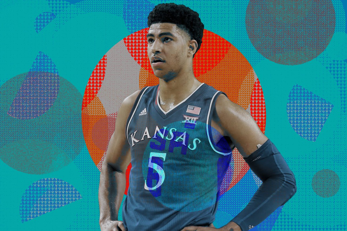 """Bill Self says top-10 recruit Quentin Grimes is """"probably the most well-rounded young guard"""" in Kansas history. So why has his transition to college ball been so tough? https://t.co/f3CVbeOgHs"""