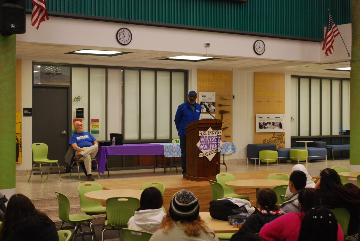 Today was all about truth in the criminal justice system - we were privileged to have two former Death Row inmates who were wrongfully incarcerated come to speak - Kirk Bloodsworth and Shujaa Graham! <a target='_blank' href='http://twitter.com/APS_CTAE'>@APS_CTAE</a> <a target='_blank' href='http://twitter.com/APSCareerCenter'>@APSCareerCenter</a> <a target='_blank' href='https://t.co/pBFQMlqBvB'>https://t.co/pBFQMlqBvB</a>
