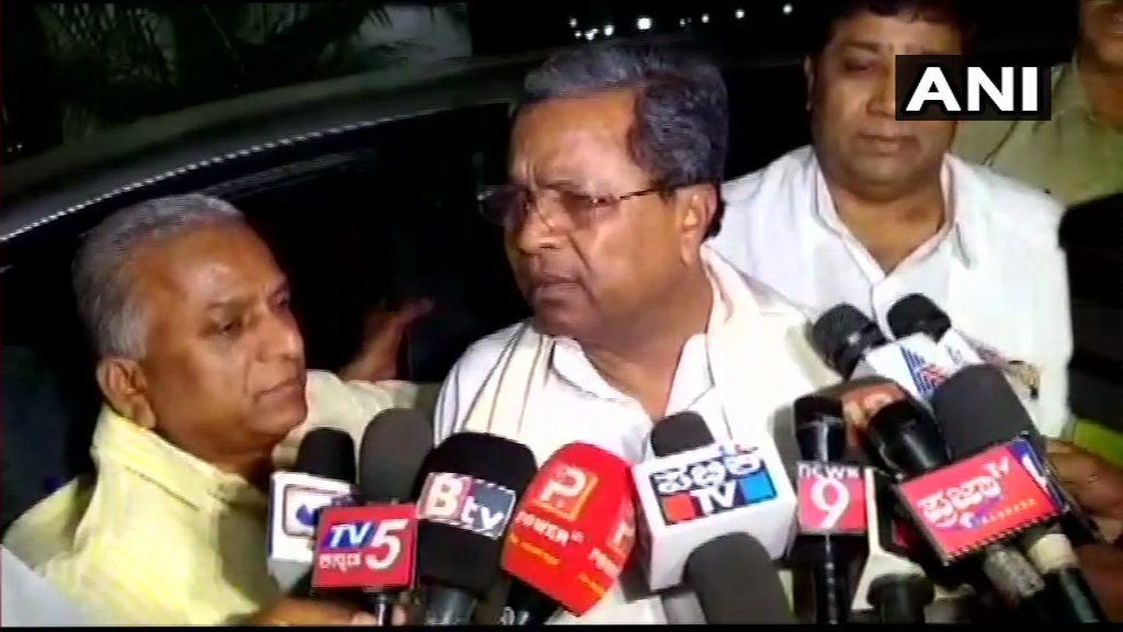 Former Karnataka CM & Congress leader Siddaramaiah: BJP has no right to talk about Congress. BJP has failed to work as opposition in the state. BJP is doing anti-democracy rather than working as opposition.