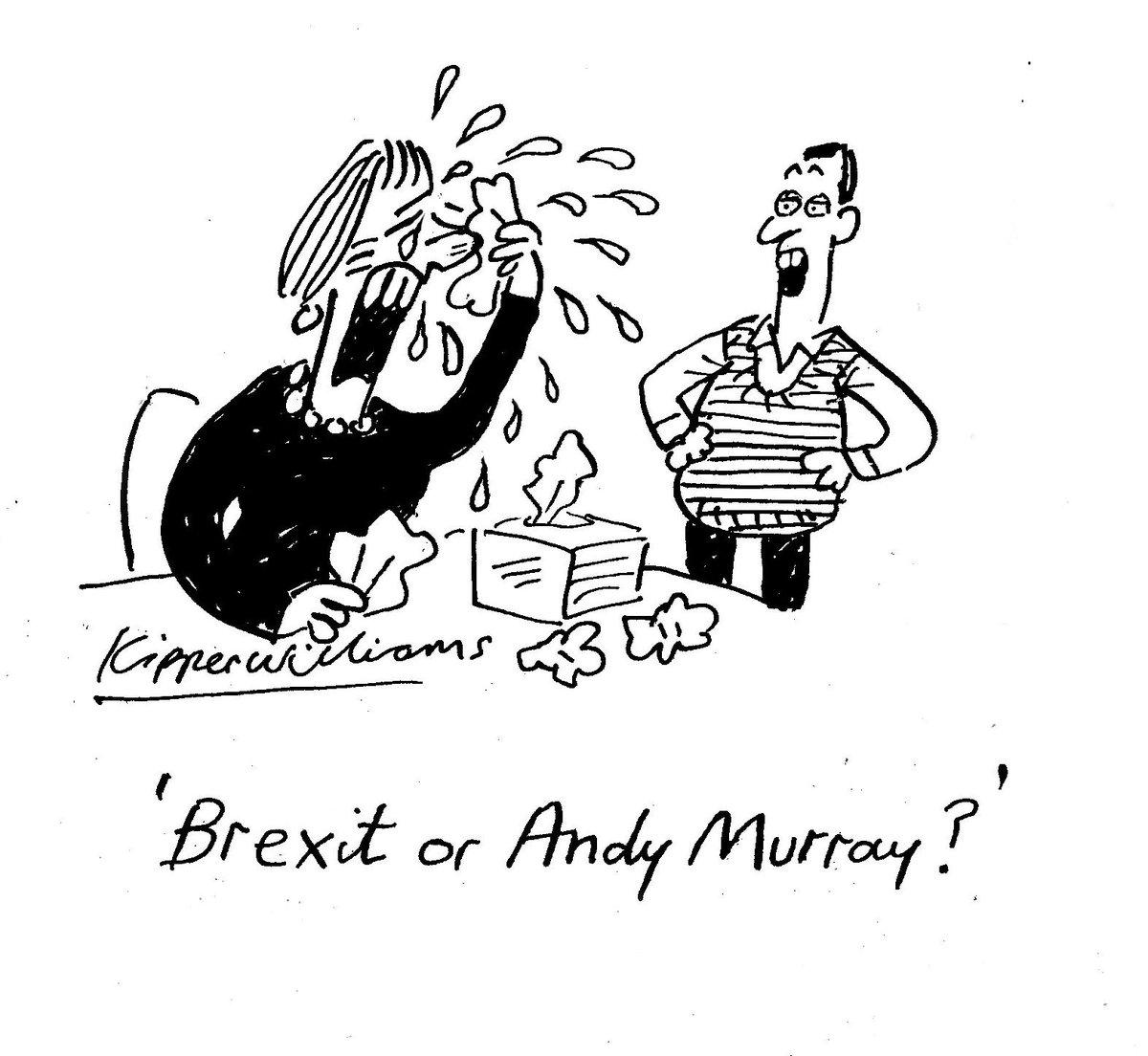 RT @KipperWilliams: My @spectator @SpecCartoons cartoon #Brexit #AndyMurray https://t.co/wkX1v4XwXX