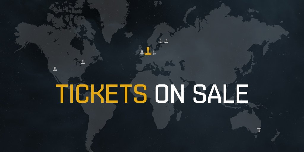 Tickets for the first EVE Online World Tour event, @Evesterdam 23-24 March at @Compagnietheate, are selling fast! Early Bird tickets now sold out!  More on how you can get tickets for a tour date of your choice: https://t.co/GNUr2RY4xh  #tweetfleet #eveworldtour #evesterdam