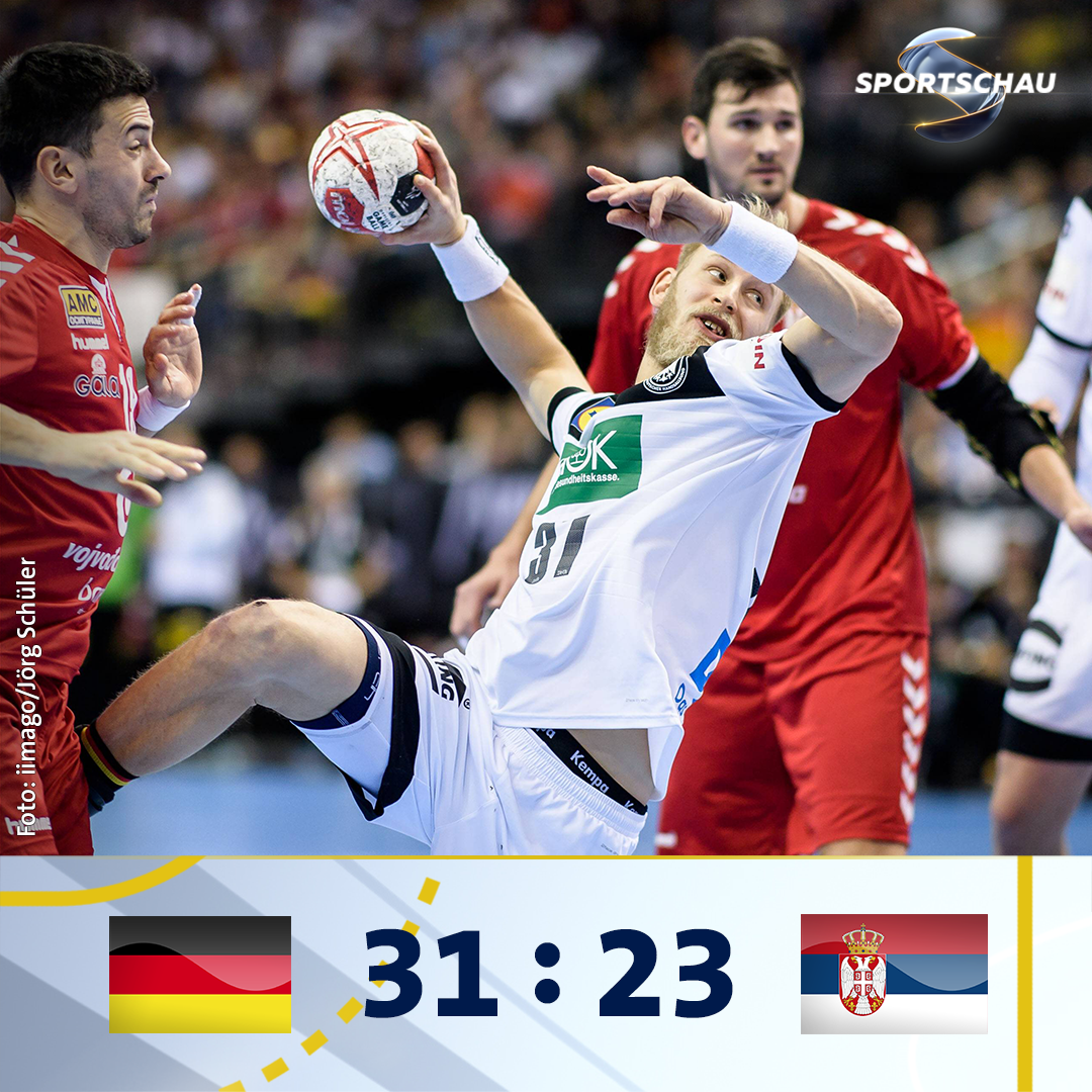 Mit einem deutlichen Sieg gegen Serbien geht's in die Hauptrunde. #handball19 #GERSRB