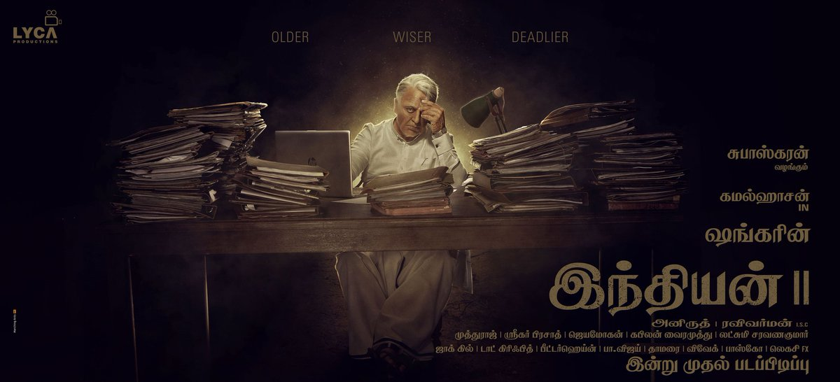 Deadly posters.😎 @shankarshanmugh's next #Indian2 goes on floors from today. @ikamalhaasan Rock it sir! https://t.co/BL4mw4BwrF