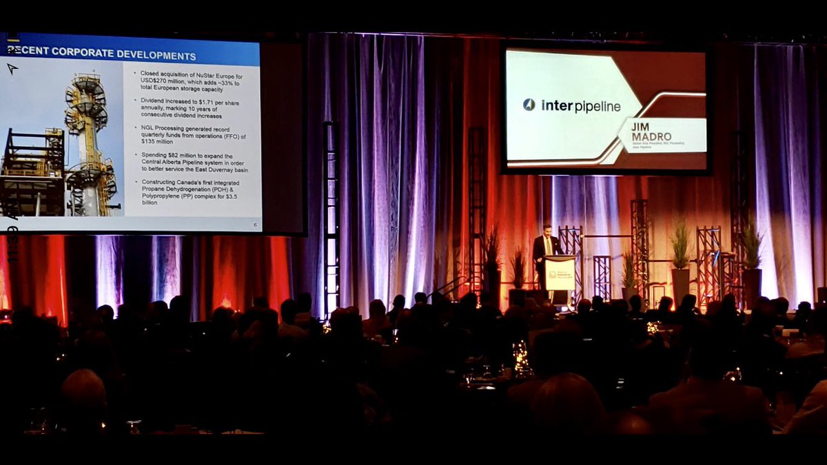 Our Sr. VP NGL Processing, Jim Madro presenting at the @ABheartland stakeholder event today. Inter Pipeline is proud to be an industry sponsor #ABenergy #ABHeartland