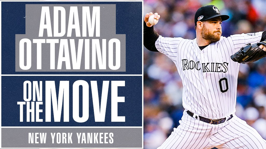 Chapman, Betances, Britton and now … Ottavino. 😱     @Yankees, RHP Adam Ottavino agree to 3-year, $27M deal, source tells @Ken_Rosenthal: https://t.co/wzPZdlHf9n