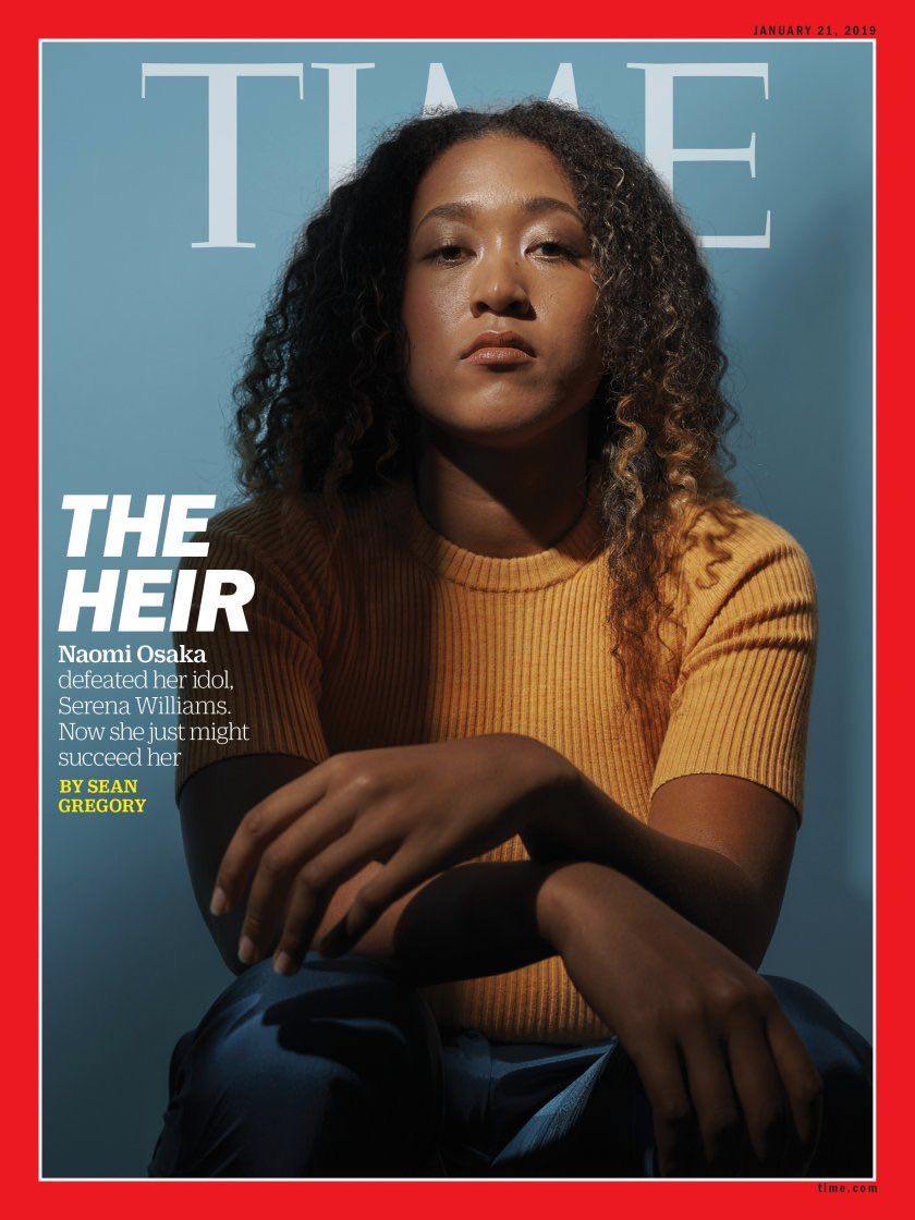 Incredible @Naomi_Osaka_ defeated her idol Serena Williams.  Now she just might succeed her. Great new cover of Time International https://t.co/B66lsnpTKG