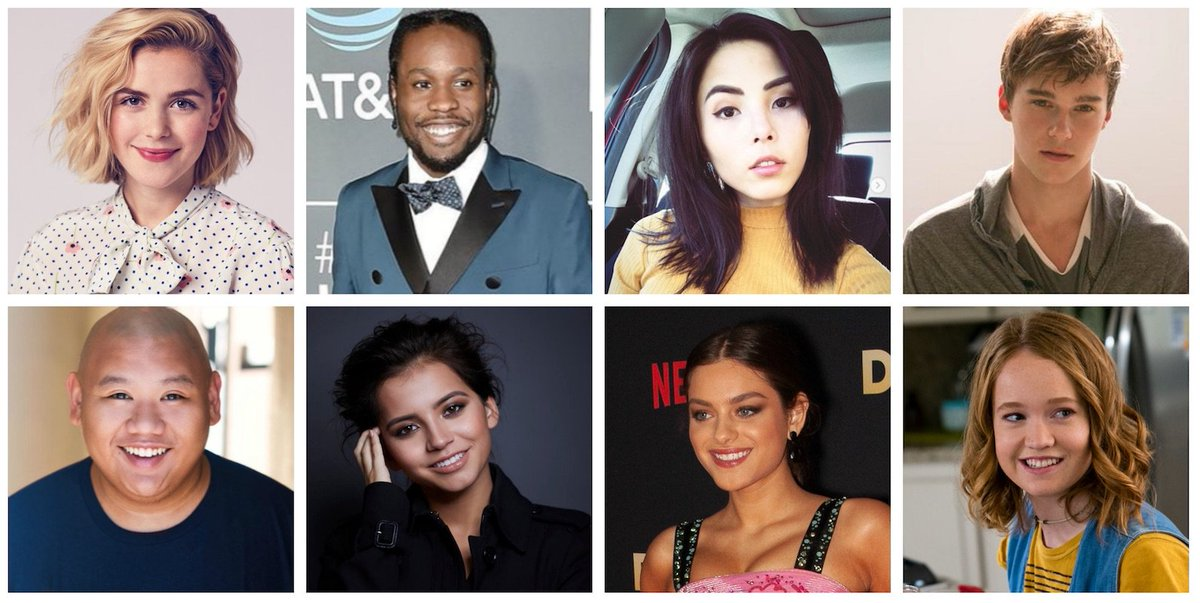 """.@kiernanshipka @shameikmoore @AnnaAkana @MitchellHope @lifeiisaloha @isabelamoner @OdeyaRush1 and @livhewson will star in """"Let It Snow,"""" a new film based on @johngreen @maureenjohnson & @LaurenMyracle's book about a once-in-century snowstorm that hits a small town on X-mas Eve"""