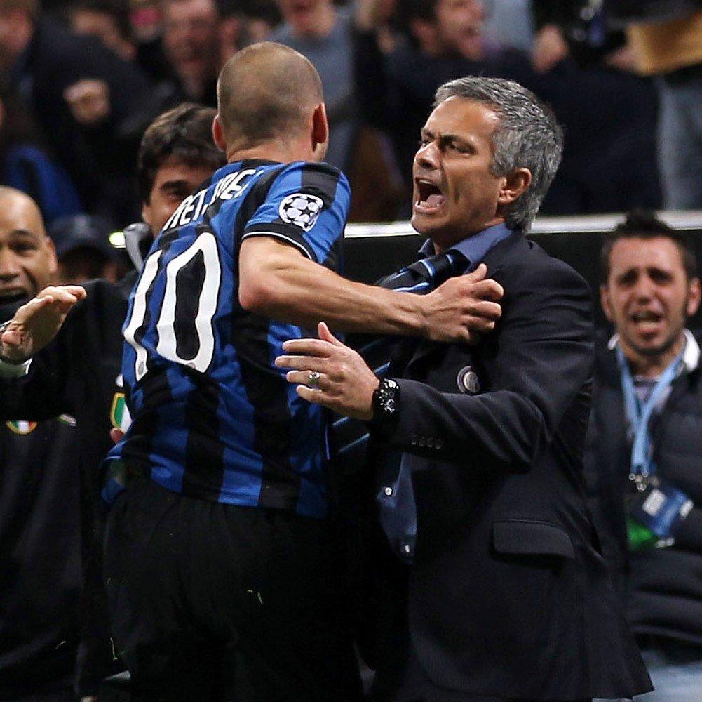 """José #Mourinho: """"La squadra migliore che ho allenato❓ L'#Inter del #Triplete, abbiamo vinto tutto"""" ⚫🔵  #UCL @Inter"""
