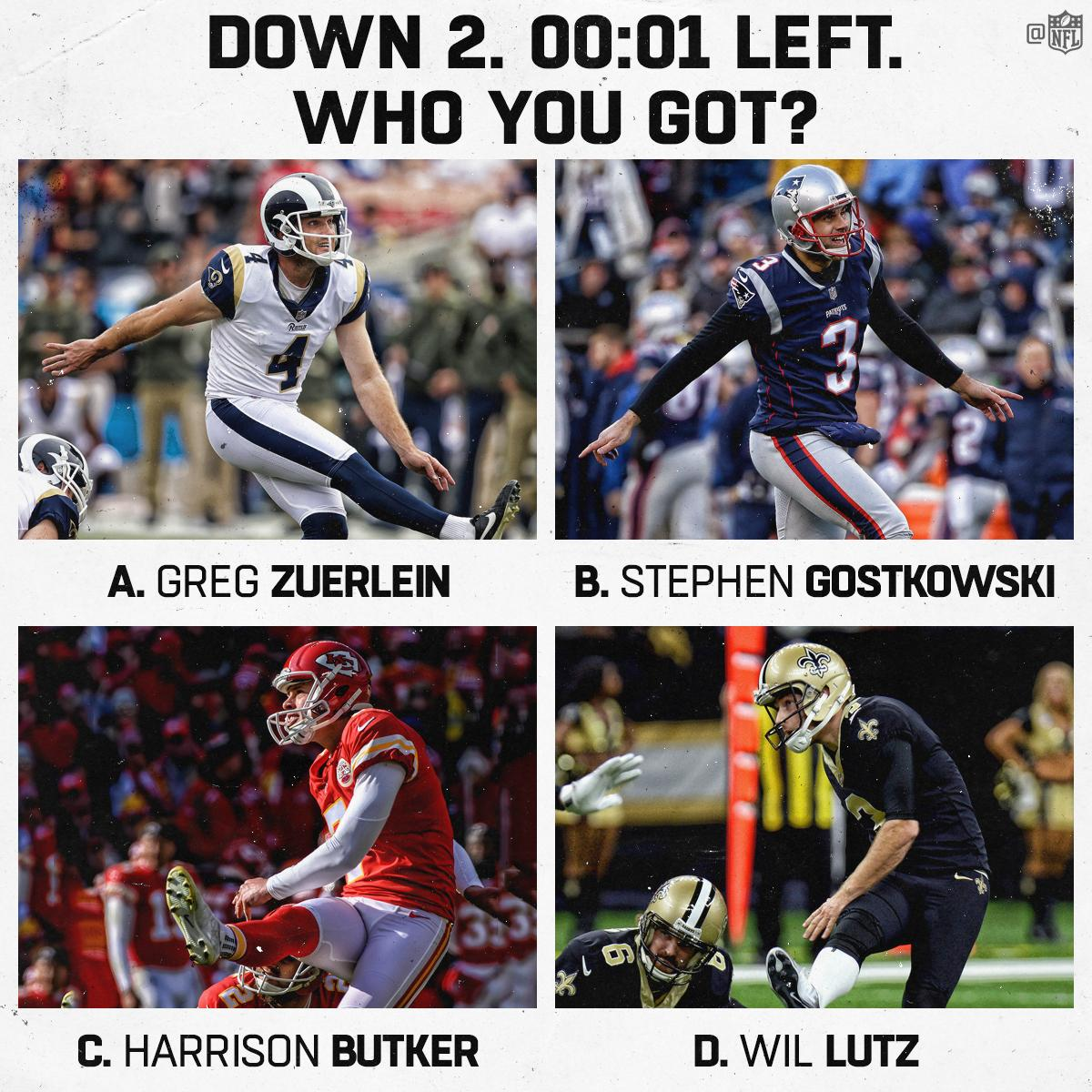 You can only pick ONE kicker. ����  Go. #NFLPlayoffs https://t.co/rxfeLLL2jH