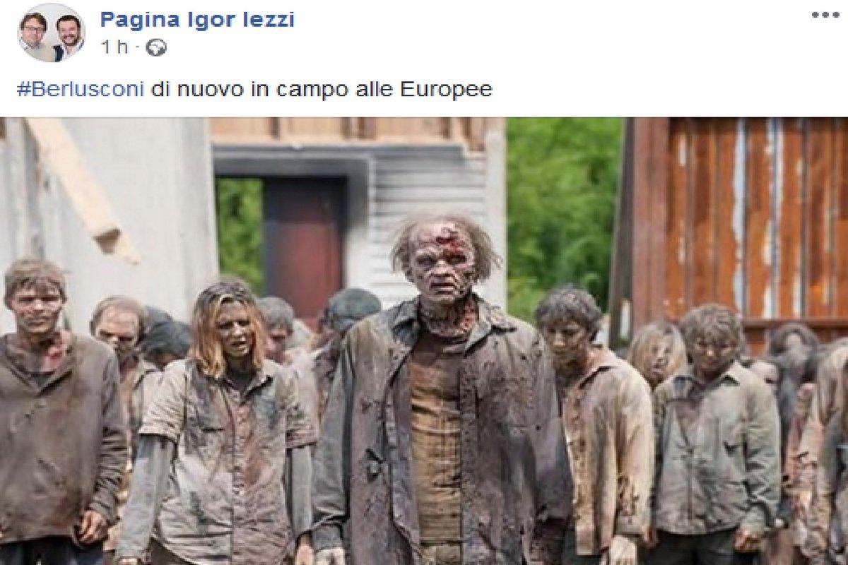 #Berlusconi zombie, l'ironia del leghista #Iezzi https://t.co/g3F6kcNnYw