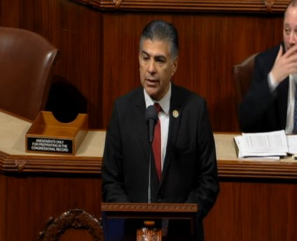 Rep Cardenas now speaking on the House floor.  He was born in Los Angeles, and is not from Puerto Rico