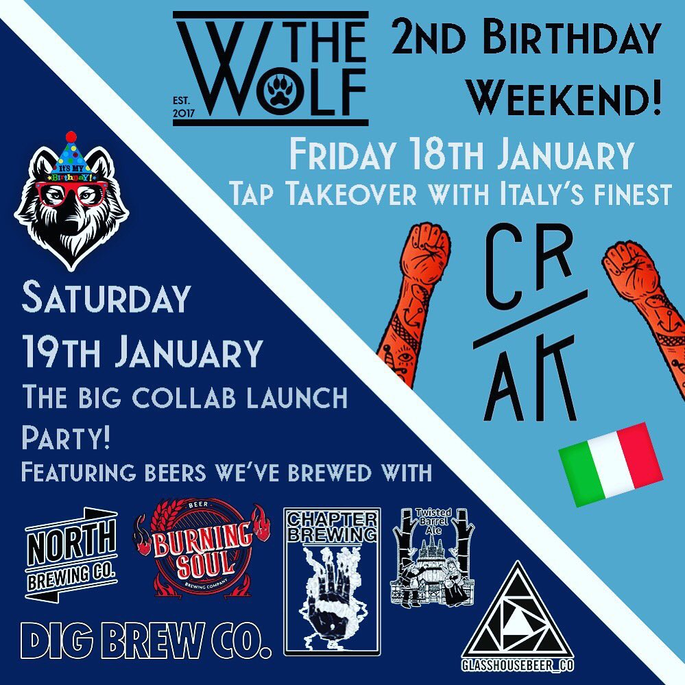 Coming up this weekend: @TheWolfBham's 2nd Birthday!   More info:  https://www. tryanuary.com/events/2019/1/ 18/the-wolf-2nd-birthday-weekend-feat-cr-ak &nbsp; …   #tryanuary #sharethebeerlove<br>http://pic.twitter.com/QW3qdSIwjz
