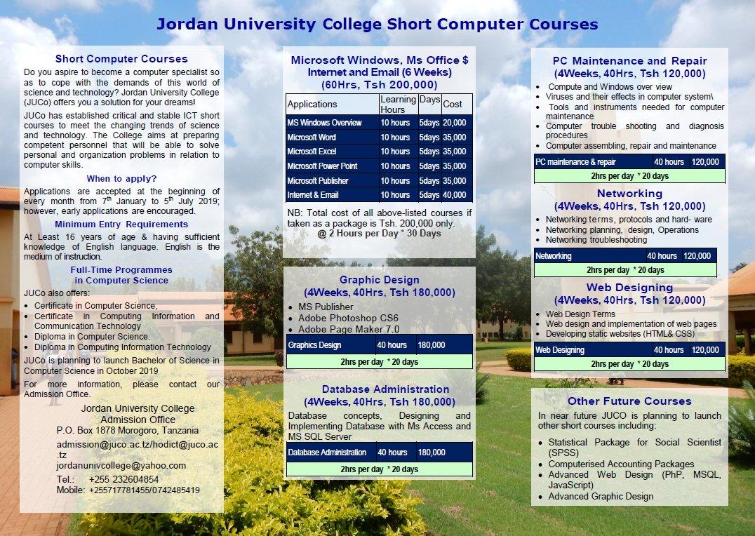 Jordan Univ Morogoro on Twitter: