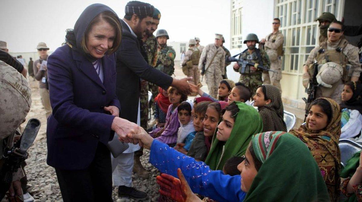 Pelosi in Marjah Afghanistan 2011