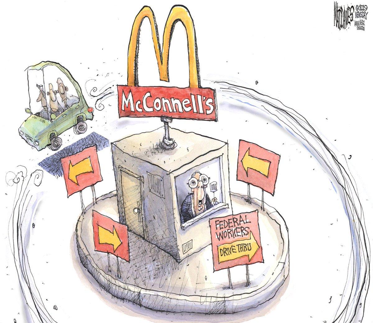 #WheresMitch?  #TheresMitch, giving #FederalEmployees the run around to protect Donald.  #TrumpShutdown