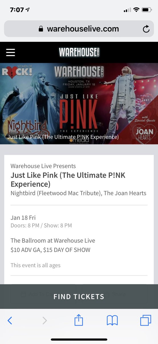 Let's give away 2 pairs of tickets to see JUST LIKE PINK tomorrow night @warehouselive ... just RT before 8am. Winner at random. Must be following to win. #FreeTickets #LiveMusic<br>http://pic.twitter.com/xdpSqELdb8