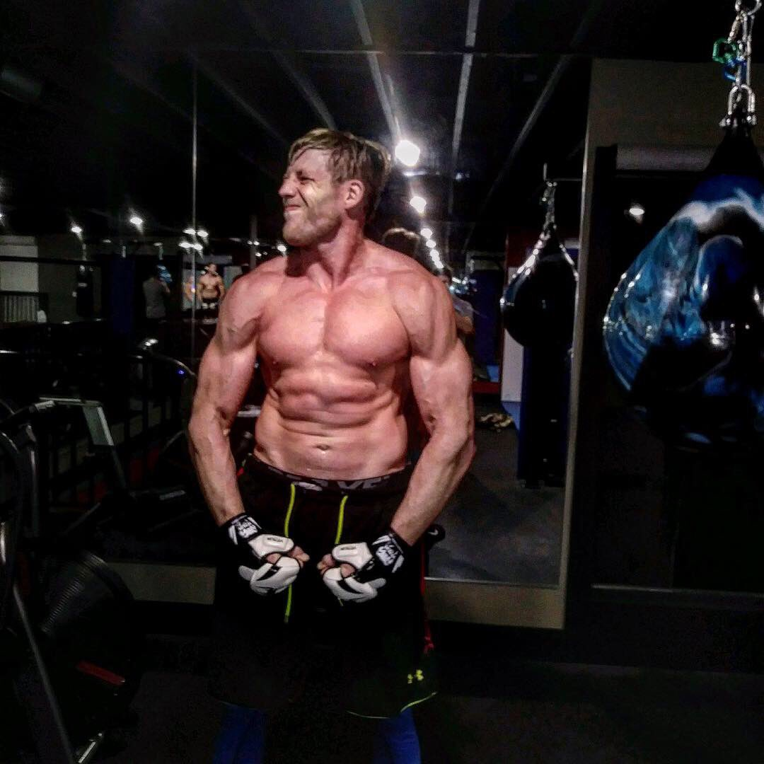 Jack Swagger is shredded for his Bellator MMA debut next Saturday. <br>http://pic.twitter.com/qmLoY2RuLW