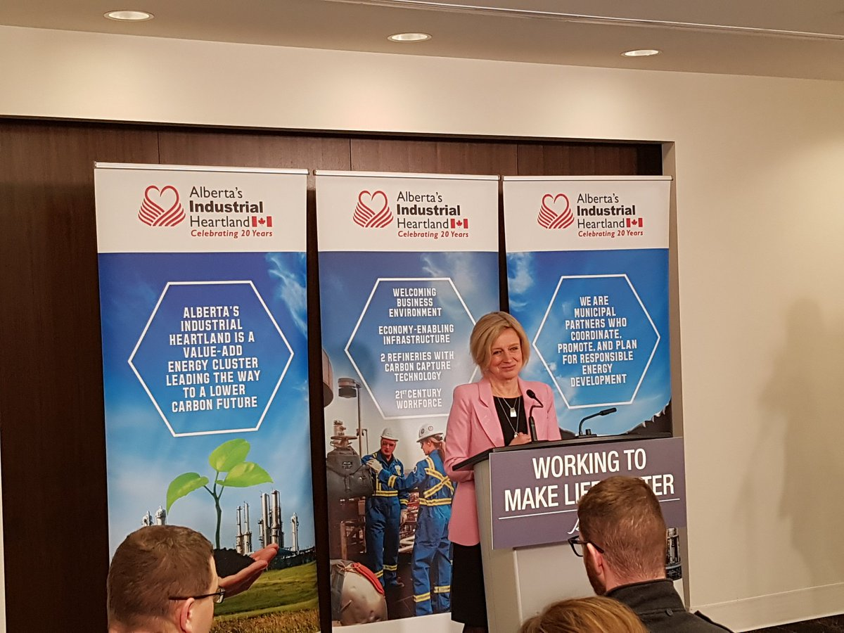 Premier Notley taking questions as part of a post-speech media scrum at our Annual Stakeholder Event.  #abheartland #investment #abenergy #petrochemicals