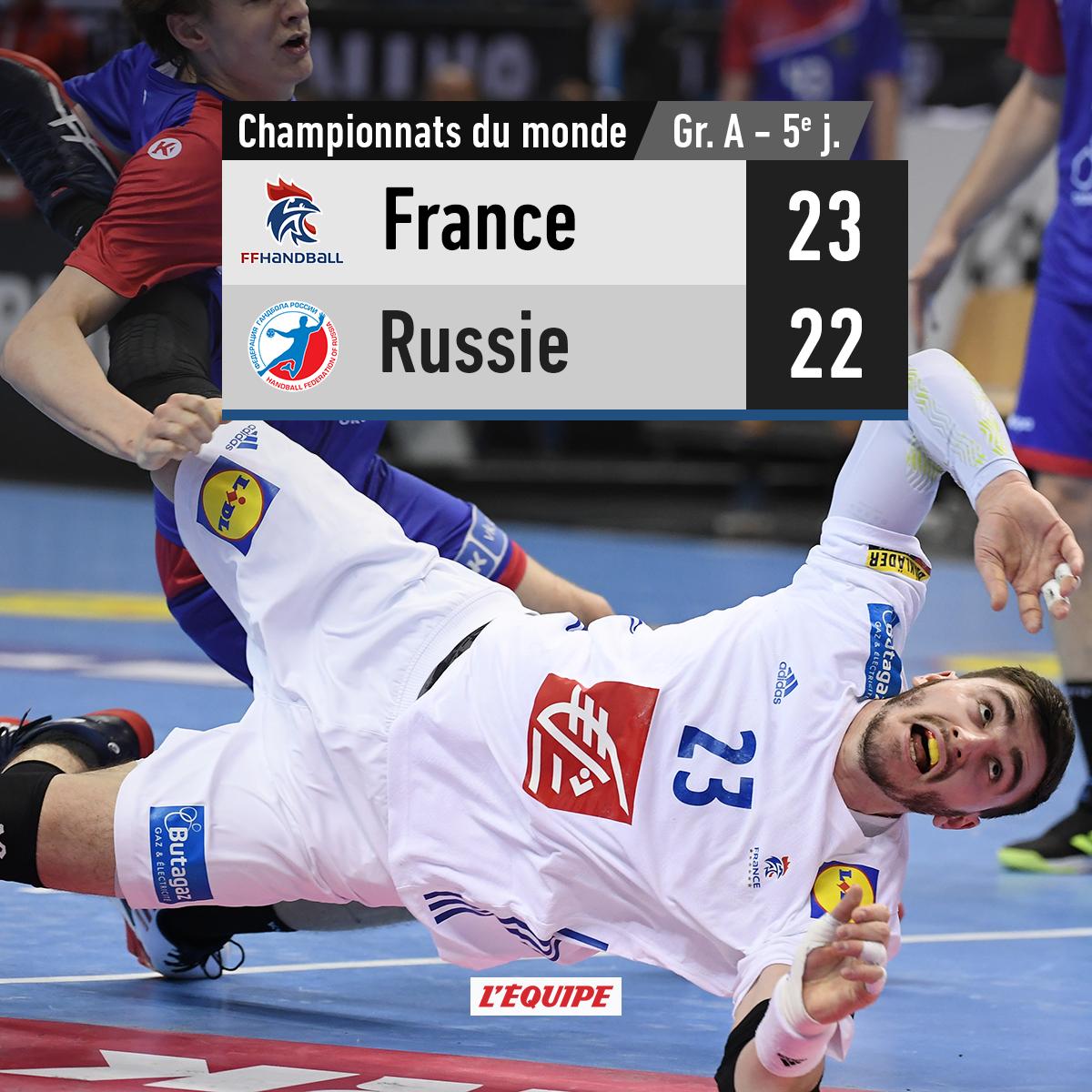 La France termine la phase de poules en tête.   Le match > https://t.co/ZSbnEzwQ4a