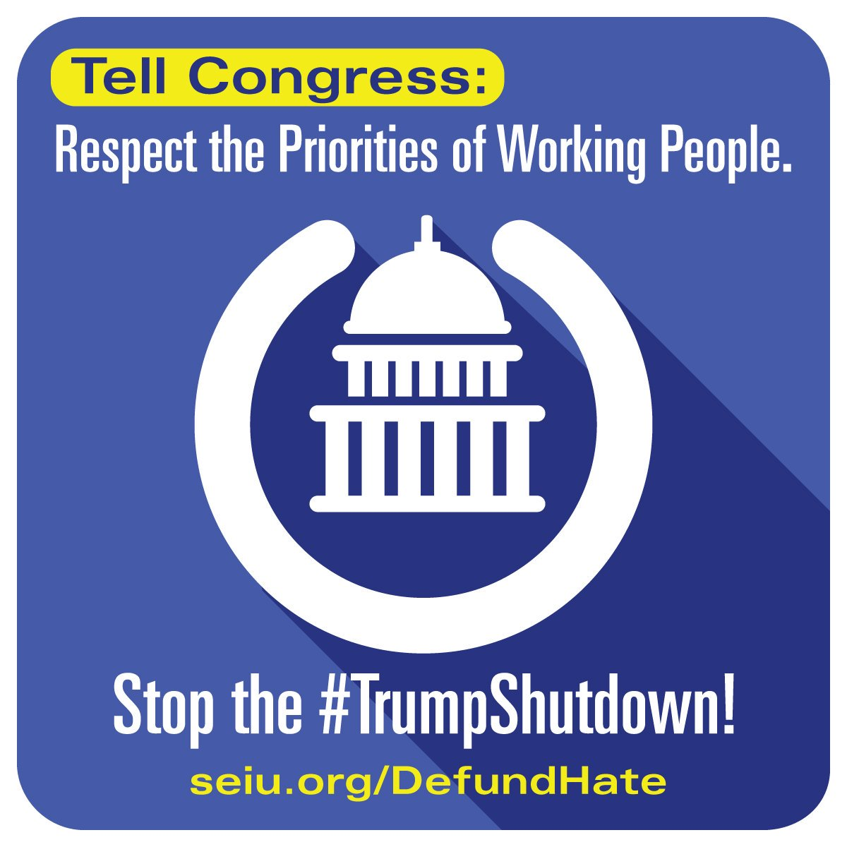 """President Trump and his Republican Congressional allies have time after time attempted to divide us by demanding billions for a border wall, while giving huge tax breaks to corporate CEOs and billionaires. Tell them """"we want good jobs; not walls.""""   https://t.co/bEqUmcBGYg"""