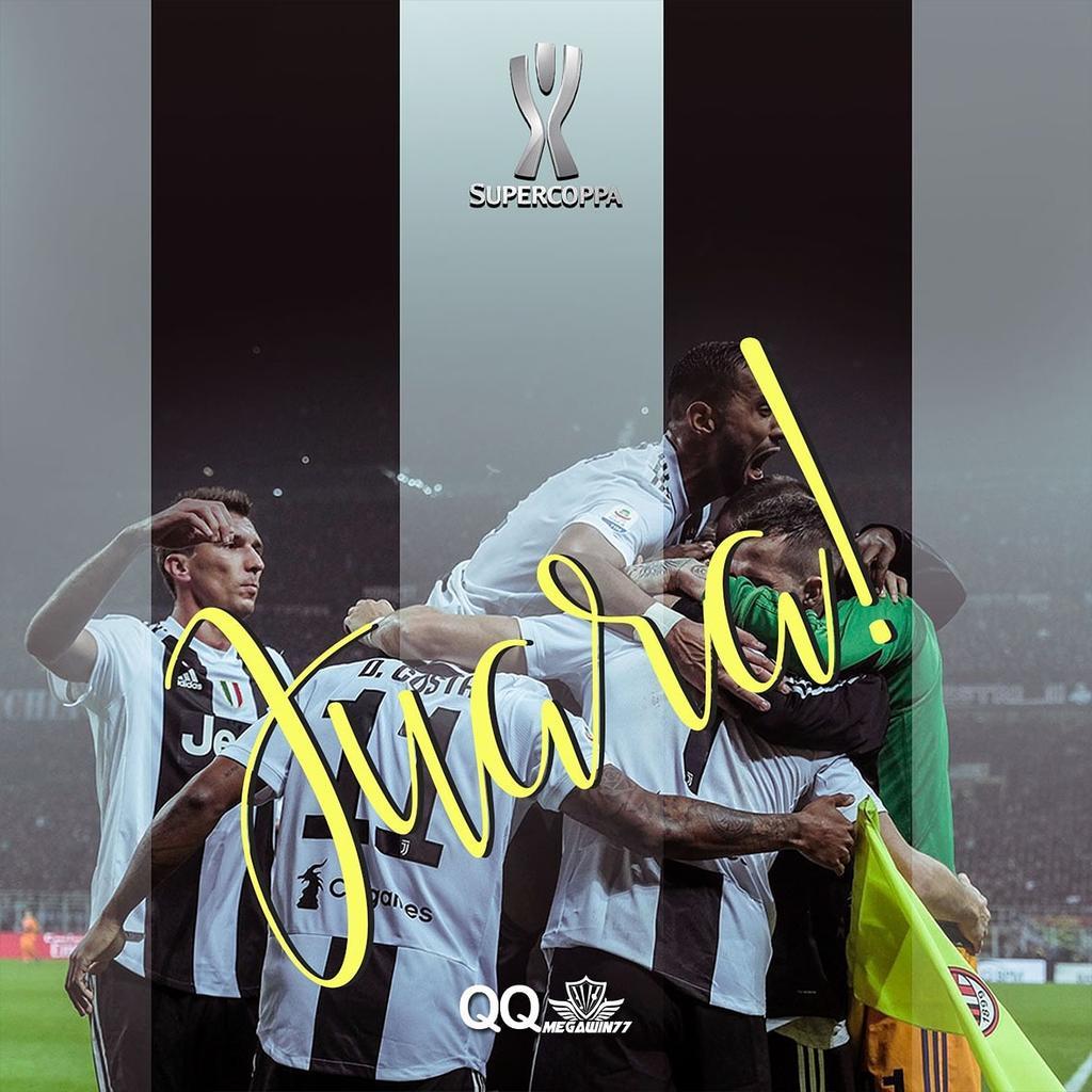 Keren banget ya, aksi #Juventus melawan #ACmilan hingga akhirnya memenangkan #supercoppa !! 😍  #CristianoRonaldo #cristiano #cr7 #sepakbola #bola #hasilbola #bolasepak #piala #ligaitalia #juara #agenbolaonline #judibolaterpercaya #judionlineresmi #qq #megawin #qqmegawin77