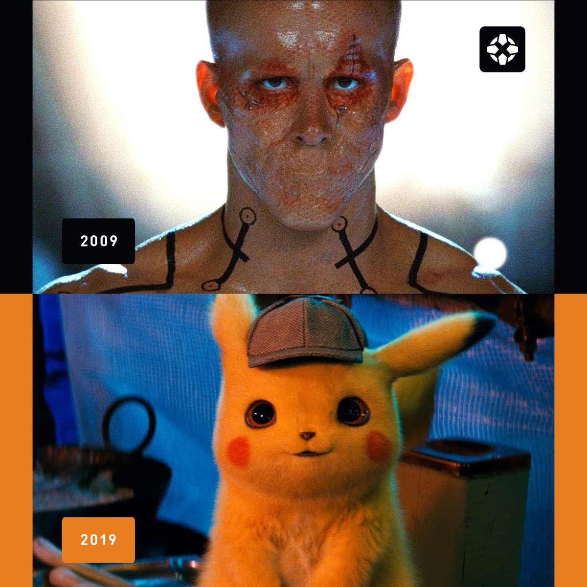 .@VancityReynolds has won the 10 Year Challenge; he literally animorphed. 🤯