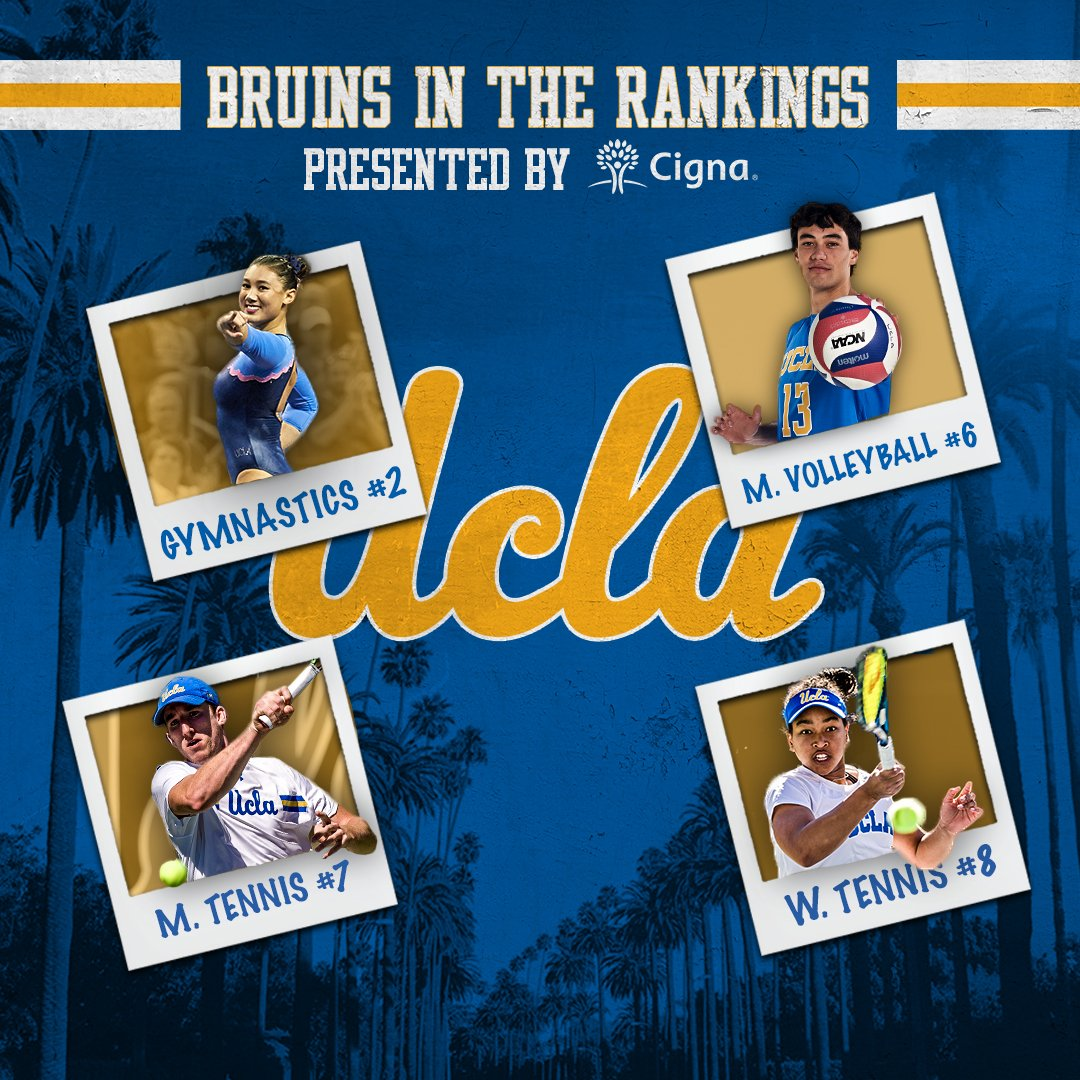 Four teams in the Top 10 in this week's Bruins in the Rankings, presented by Cigna. #GoBruins