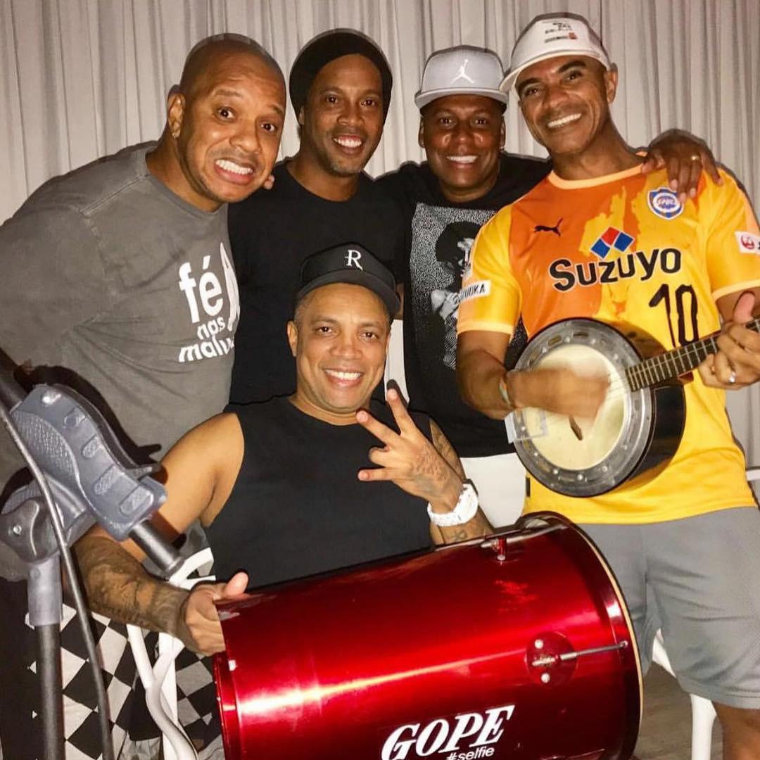 Meus ídolos! Picole, Delcio Luís, Rogerinho e Anderson Leonardo! Obrigado pela visita 🙏 que dia maravilhoso🤙🏾😊