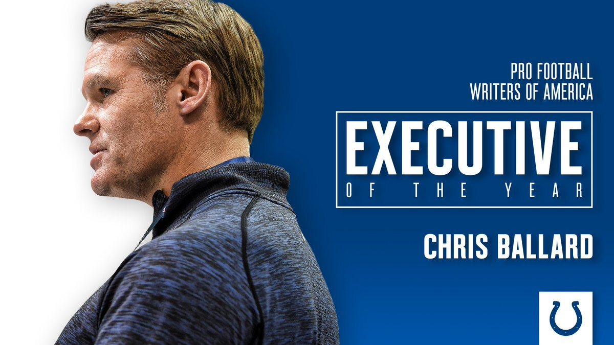 Chris Ballard has been named the @PFWAwriters Executive of the Year!   🔗https://t.co/wLwVCR2Sb0 https://t.co/PQKBOfoLfi