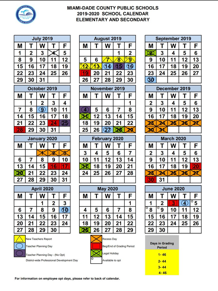 Dade County School Calendar 2020 Miami Dade Schools on Twitter: