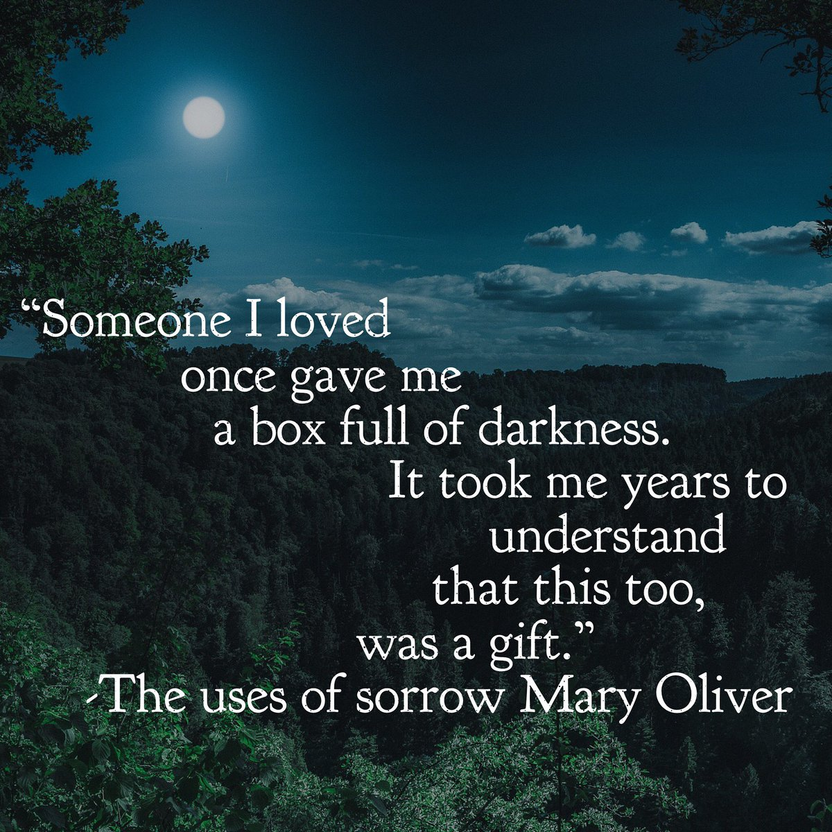 Thank God for Mary Oliver