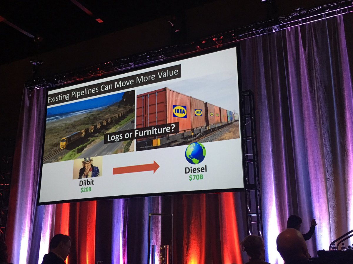 Send the most economically dense products you can through pipelines and that's refined products - Our CEO Ian MacGregor @ABheartland #refining @NWRSturgeon