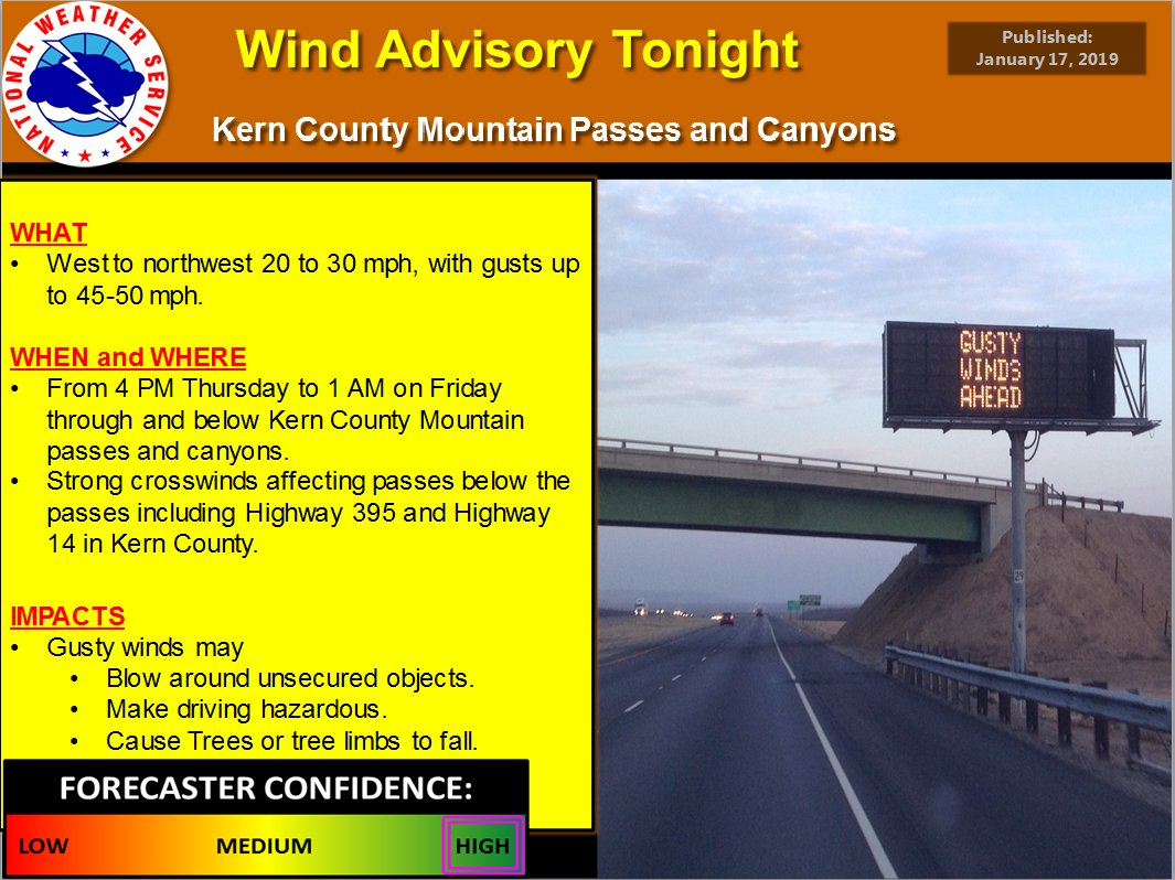 Take note and be sure to secure your loads if your travels take you through the #KernCounty mountains today #HighWinds Caltrans9