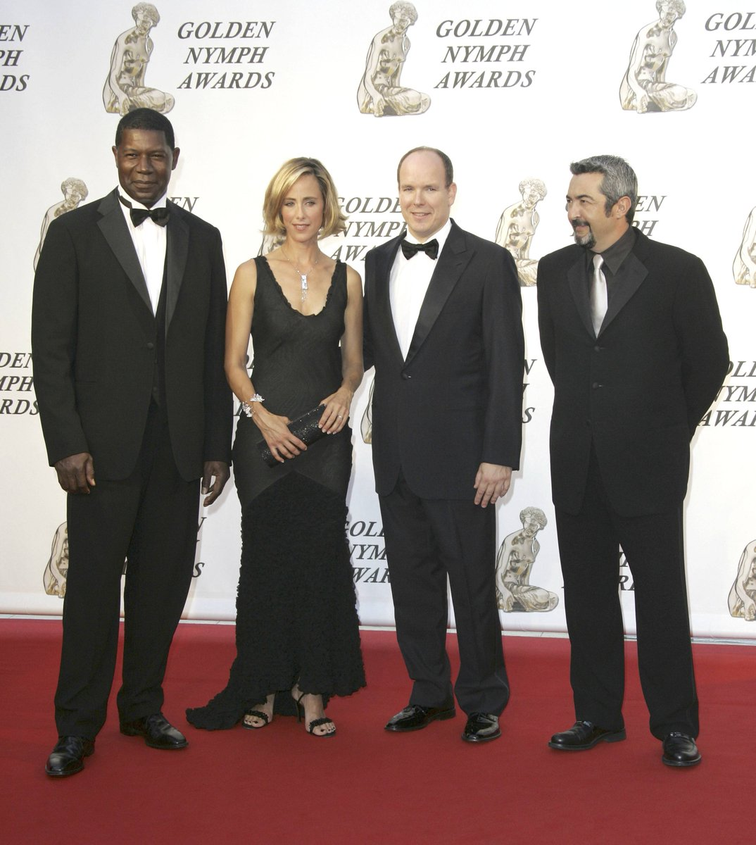 #ThrowbackThursday 24 Being honored by the prince of Monaco. I'm with actors #DennisHaysbert and #KimRaver  accepting the award.