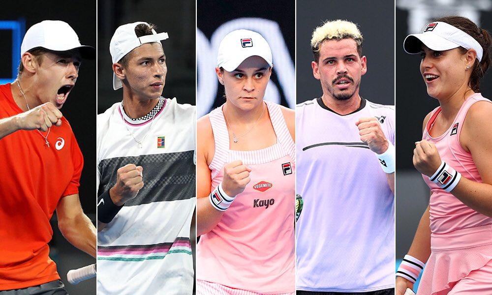 The fantastic five.   Third round. @AustralianOpen 2019.  #AusOpen #GoAussies