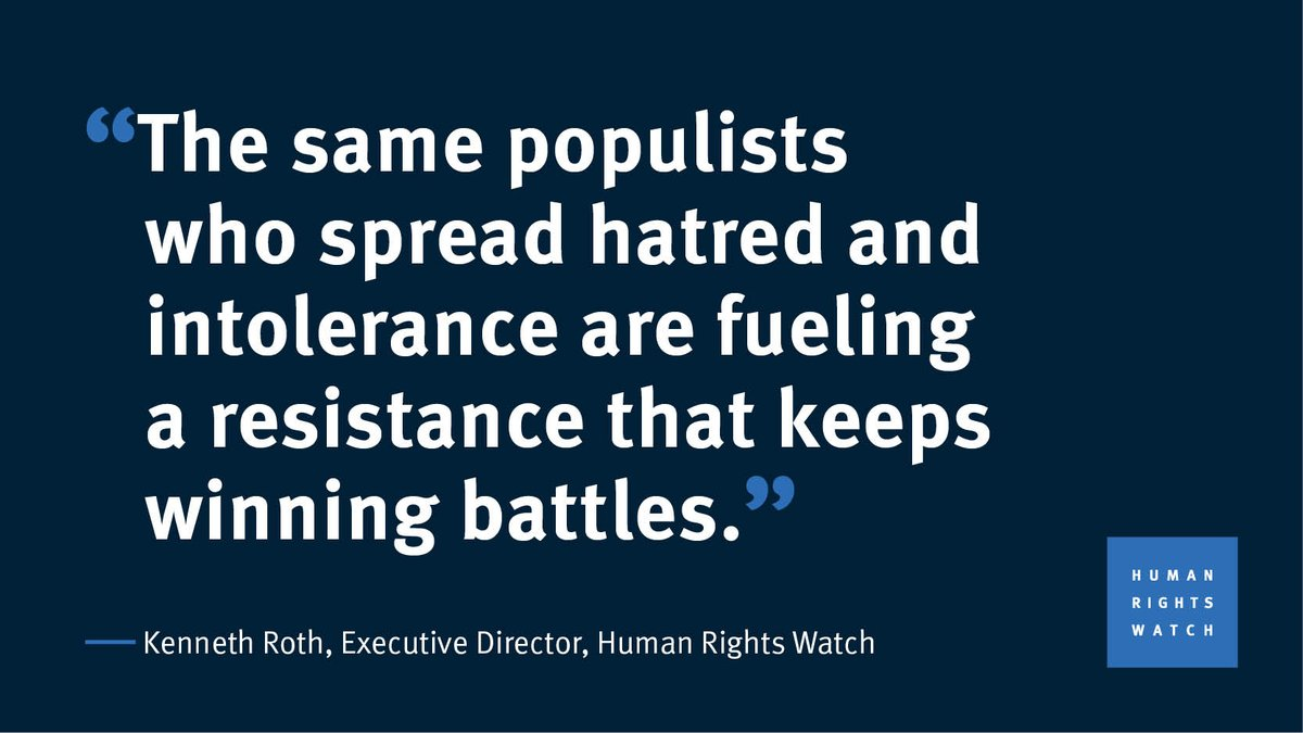 Quote of the Day, by @KenRoth, launching the 2019 World Report https://t.co/VGubcCgU4T #Rights2019
