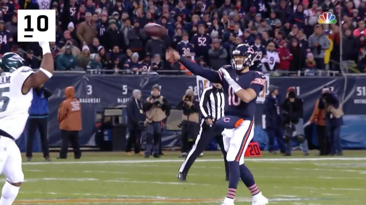 His second season: 📈📈📈  @ChicagoBears QB @MTrubisky10's 10 BEST plays of the year!
