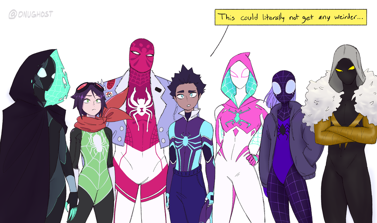I never ended up finishing this but I figured I&#39;d share it anyway. I&#39;m really happy #spidersona happened, there were so many dope designs from everyone. There were even more I wanted to draw but this drawing alone killed me so yeah..  <br>http://pic.twitter.com/KxRca8olTK