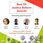 BIG NEWS! We're hosting an awards show to highlight key moments in the justice reform fight, including media you should be viewing, listening to, and reading. RSVP to join @Alyssa_Milano, @MattMcGorry, @realtuffjuice & @DeRay as we celebrate: https://t.co/0b4QezEW1I #StateOf2K18
