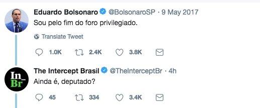 É por isso que a família Bolsonaro nos bloqueia e aos nossos repórteres (pelo menos até a iminente decisão do tribunal)