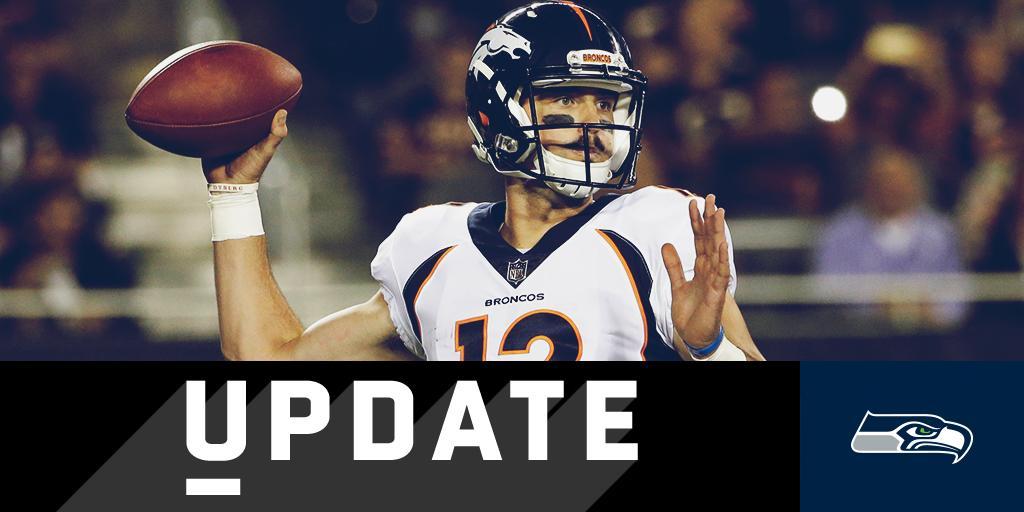 .@Seahawks sign former Broncos QB Paxton Lynch: https://t.co/5nwVRGfOsh https://t.co/wRhOfXVMZk